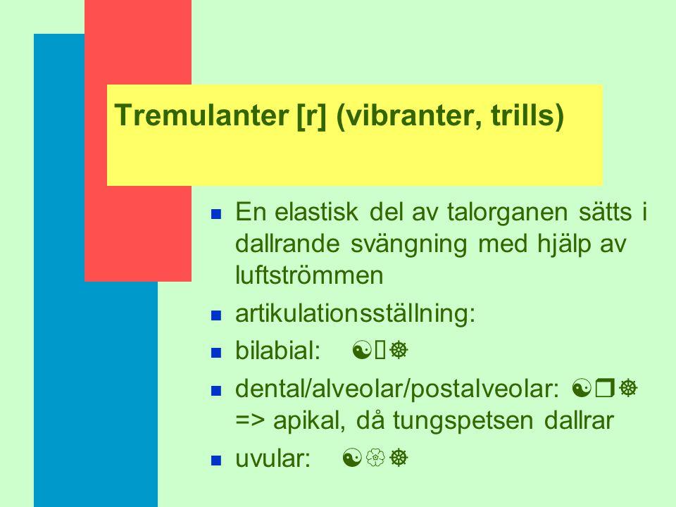 Tremulanter [r] (vibranter, trills)